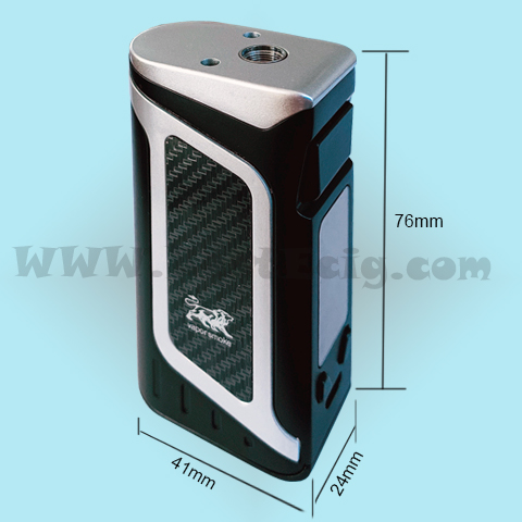 the size of X16 80W Vape Box MOD