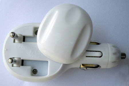 2in1 european plug car charger
