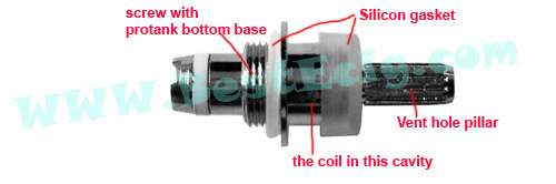 eGo bottom coil head