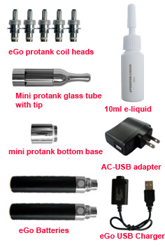 eGo mini protank starter kit accessories