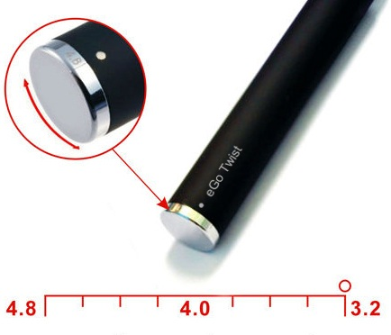 how to adjust the voltage of eGo Twist battery