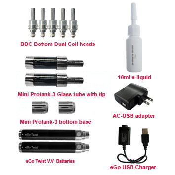 Twist version mini protank-3 starter kit accessories