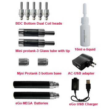MEGA mini protank-3 starter kit accessories