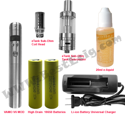 VAMO V6 MOD with KORE Sub-Ohm tank Clearomizer e-cig