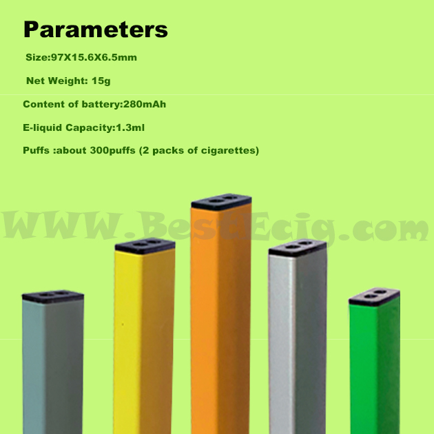 parameter of Mini Disposable Pod Vape Pen