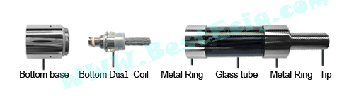 Structure of Mini protank-3 clearomizer