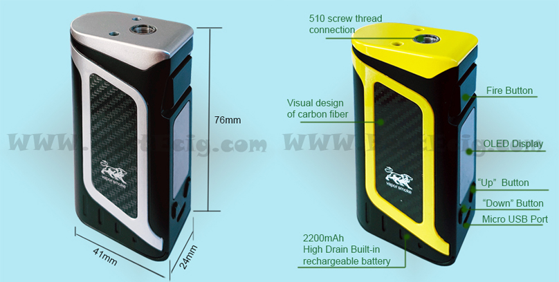 structure of X16 80W Box MOD Battery