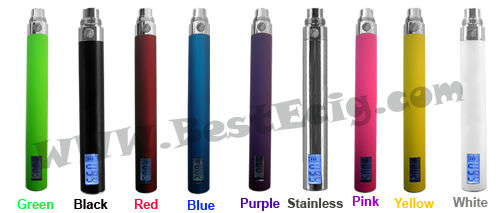 eGo e-cig LCD 1100mAh battery colorful