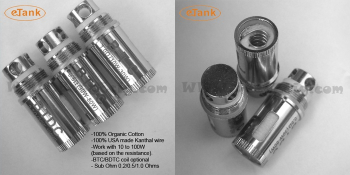 what is eTank sub ohm coil head