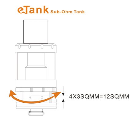 how to adjust eTank sub ohm airflow