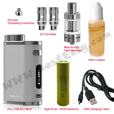 package of pico 75W with MELO III tank